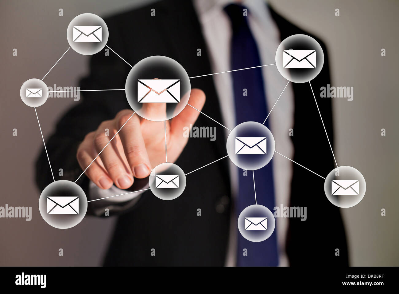 email and business technology - Stock Image