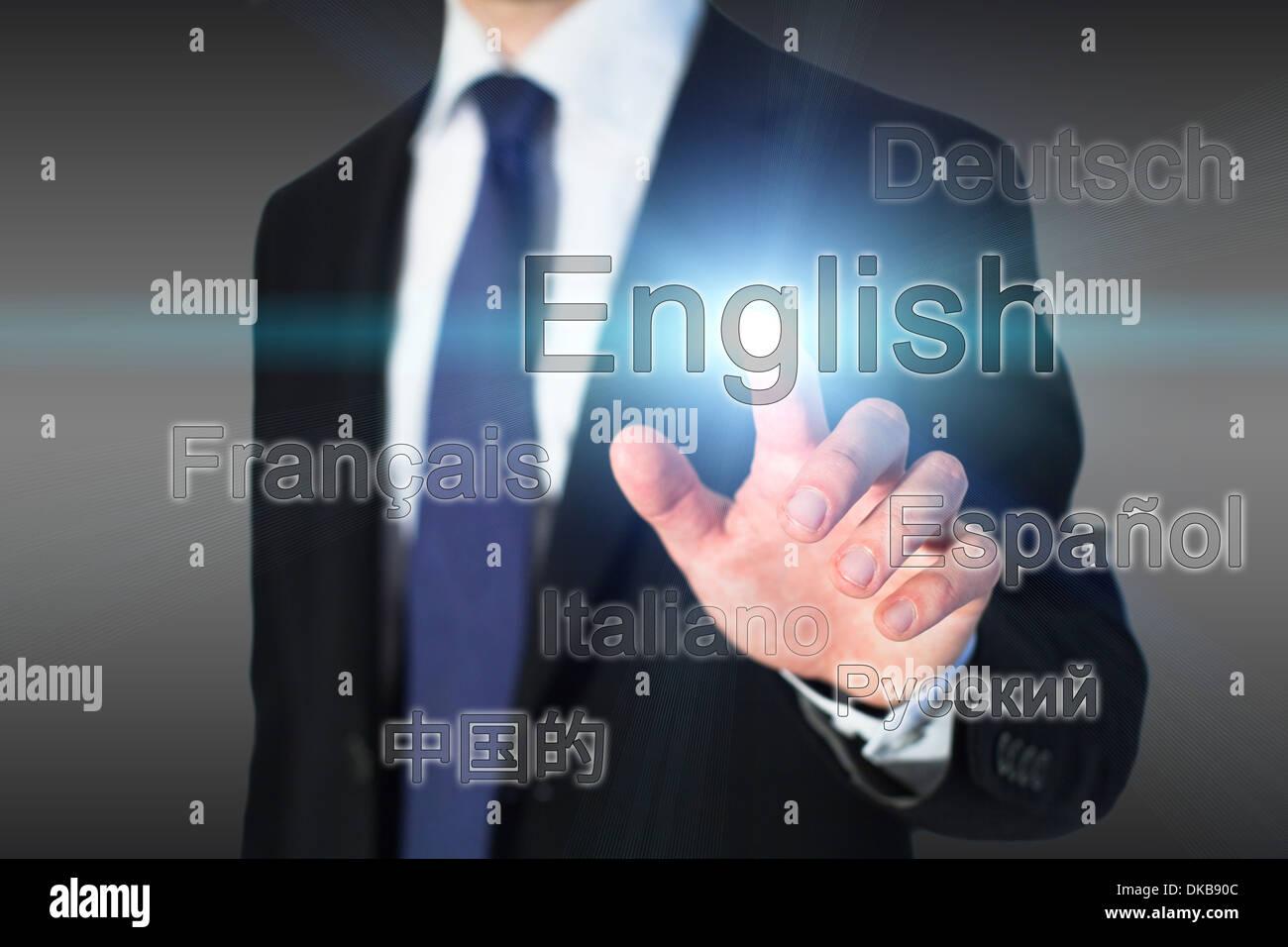 learning english, language school concept - Stock Image