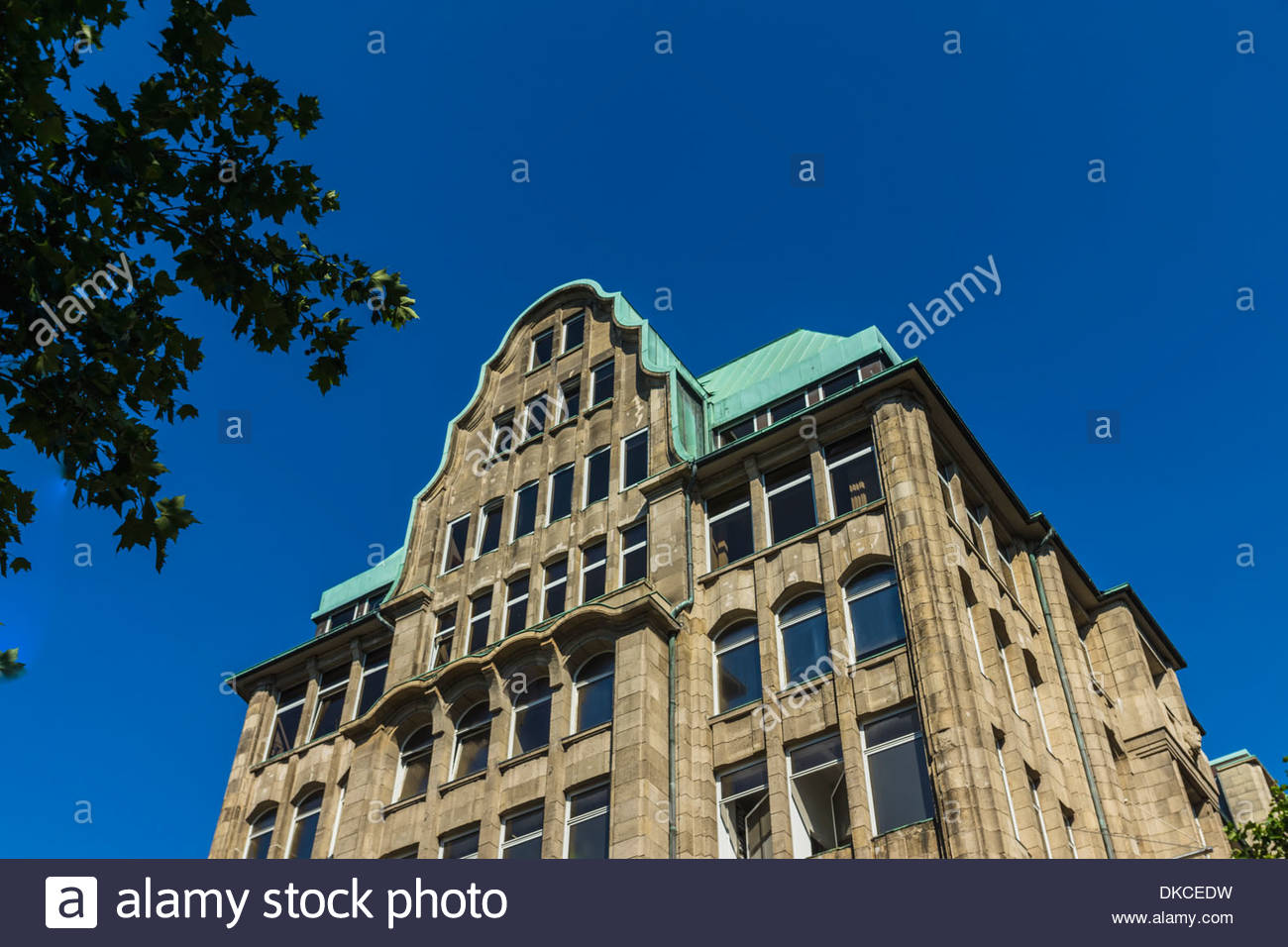 Commercial building, Hamburg, Germany - Stock Image
