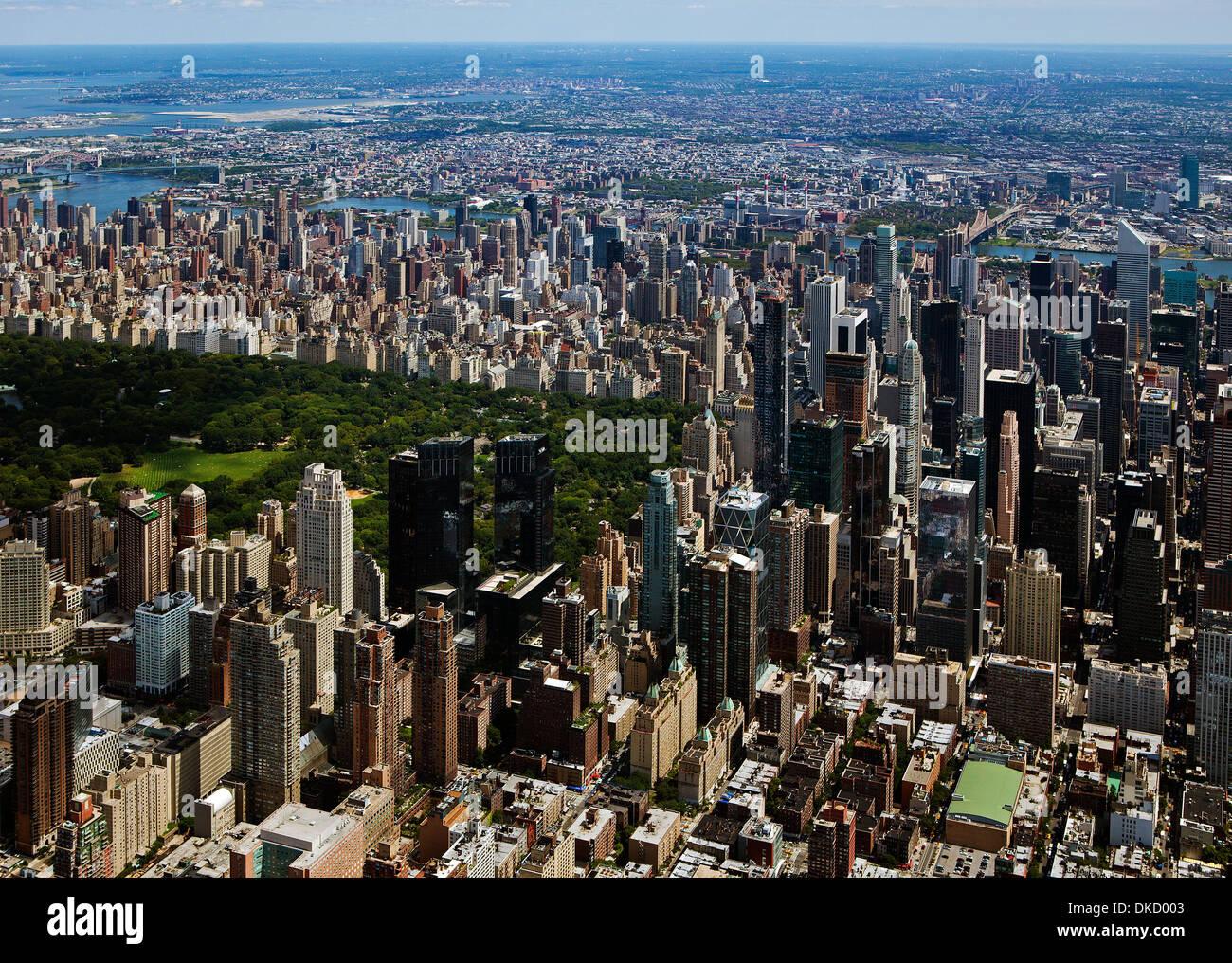 aerial photograph Central Park, Manhattan, New York City - Stock Image