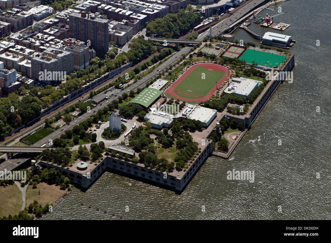 aerial photograph Riverbank State Park, Manhattan, New York City - Stock Image