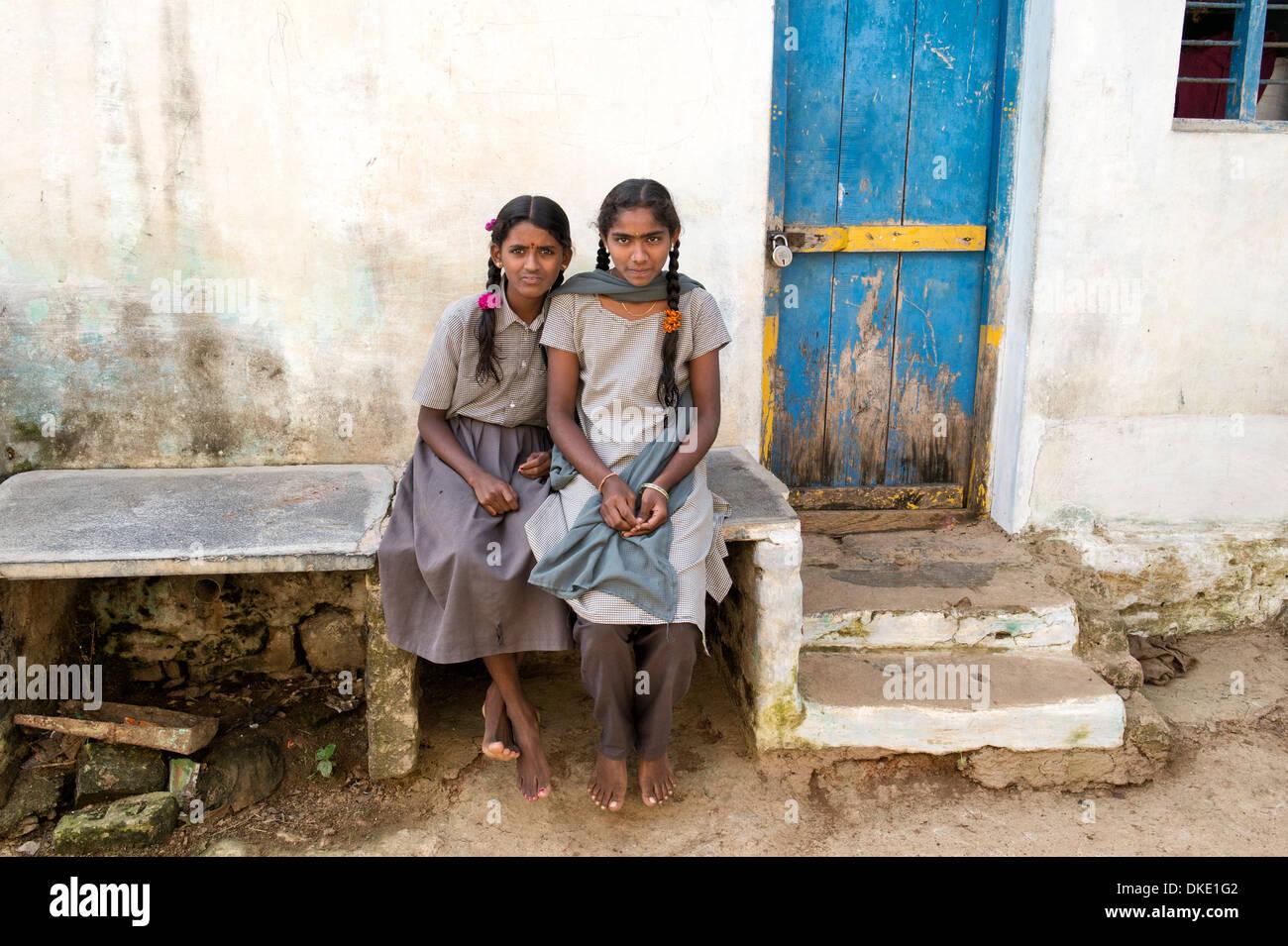 Rural indian school girls at in their village andhra pradesh india image  jpg 1300x955 Indian school