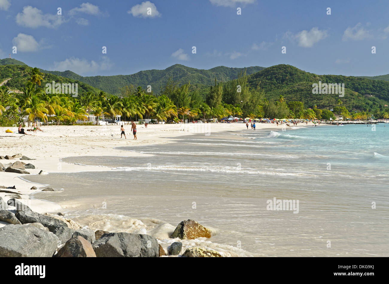 Jolly Beach, Antigua, Lesser Antilles, the Caribbean, America - Stock Image