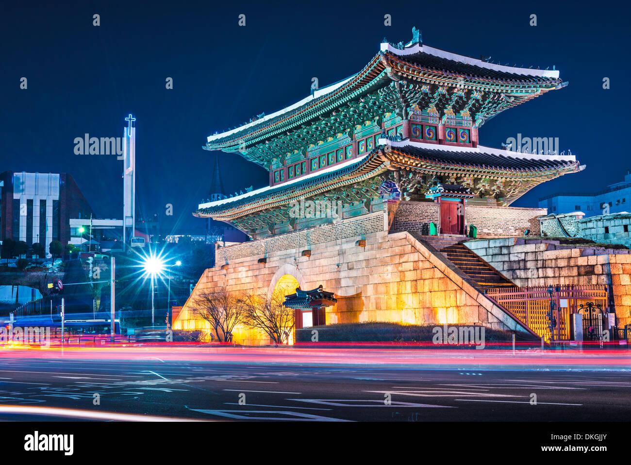 Seoul, South Korea at Namdaemun Gate. - Stock Image