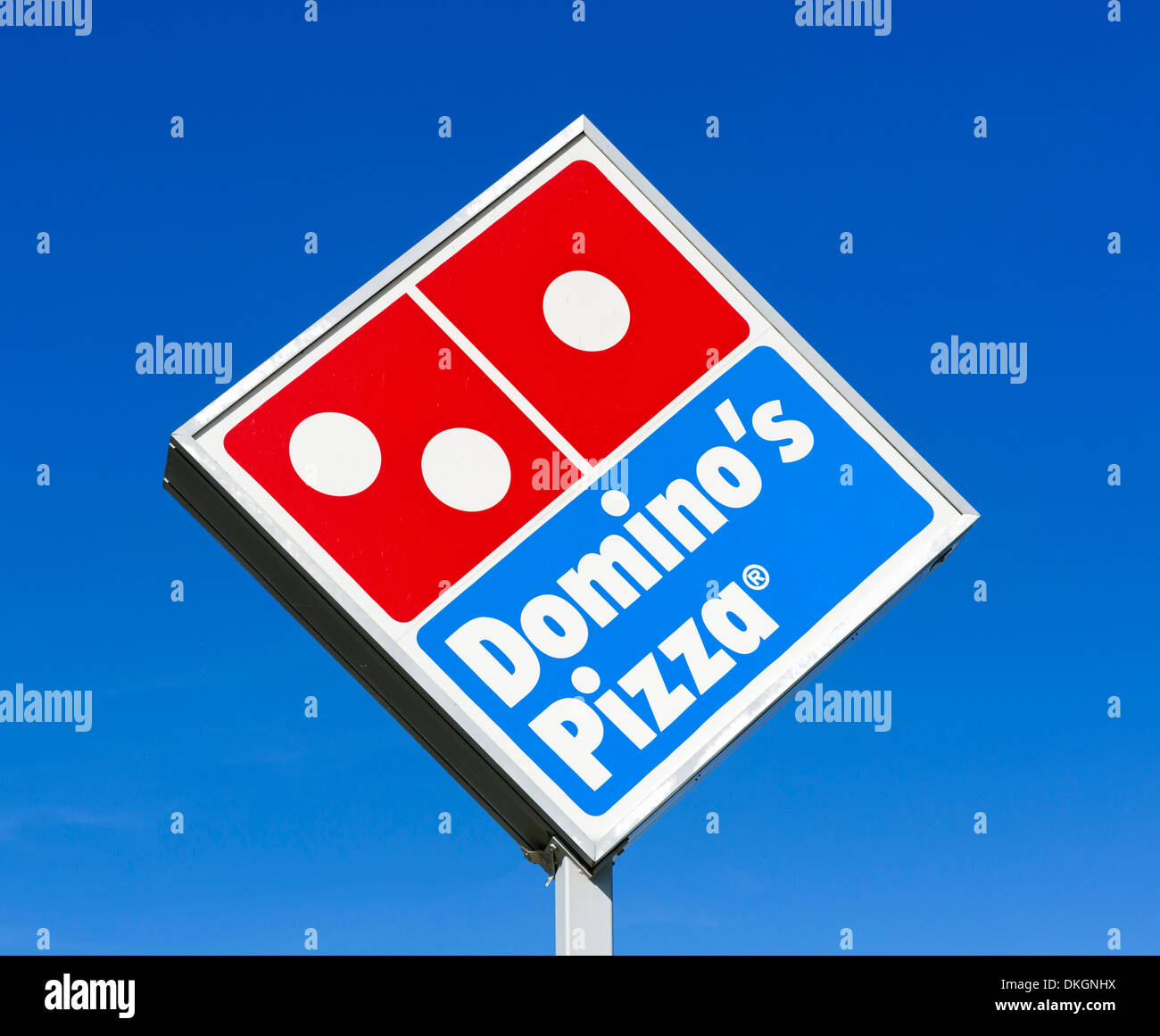 Domino's Pizza sign, Central Florida, USA Stock Photo
