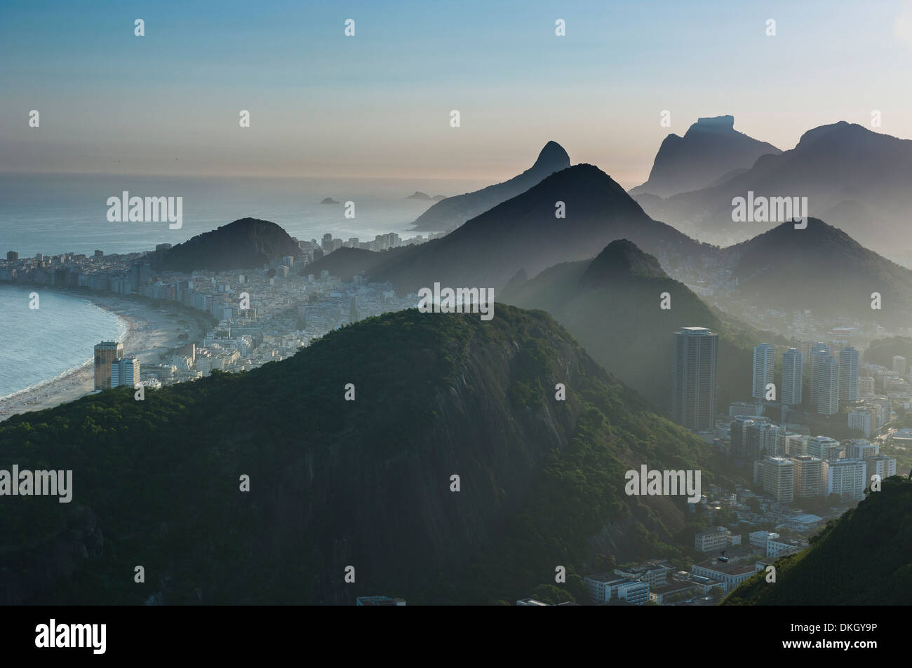 View from the Sugarloaf, Rio de Janeiro, Brazil, South America - Stock Image