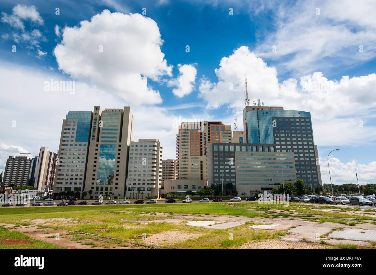 High rise buildings in the center of Brasilia, Brazil, South America - Stock Image