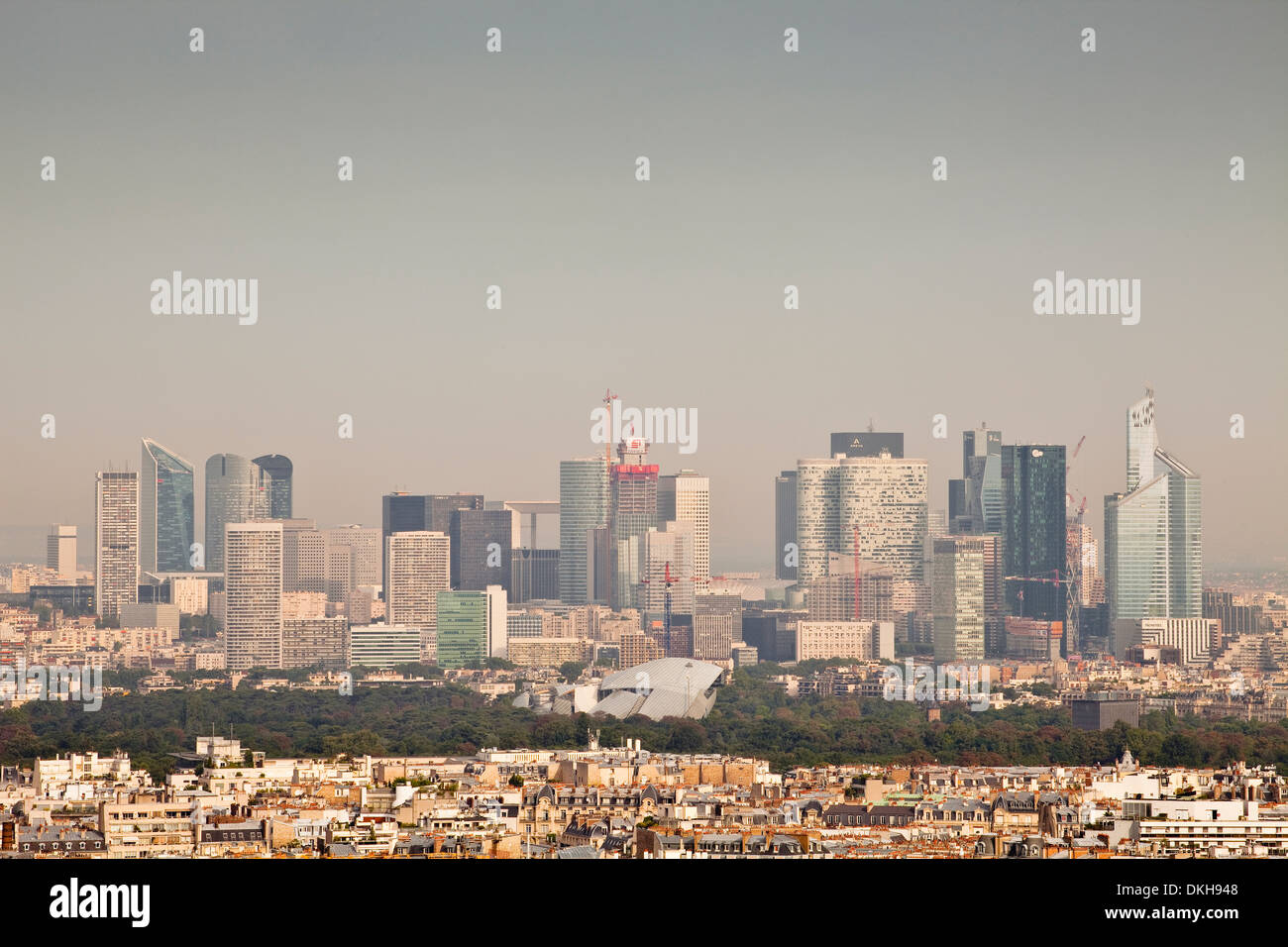 Skyscrapers in the La Defense district of Paris, France, Europe - Stock Image