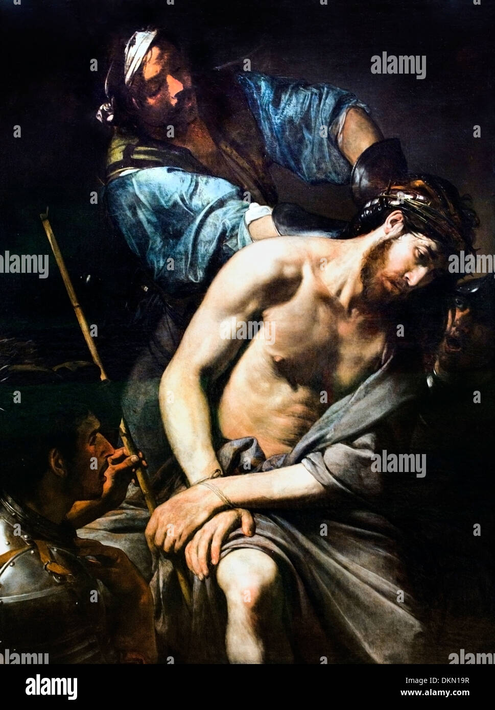 Jean Valentin de Boulogne (1591 - 1632), painting The Crowning with Thorns 1570 France French - Stock Image