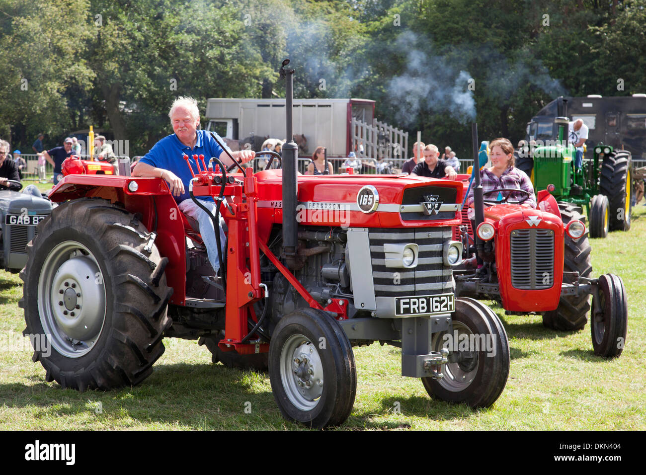 Antique Tractor Shows : Massey ferguson tractors at a vintage tractor show in the