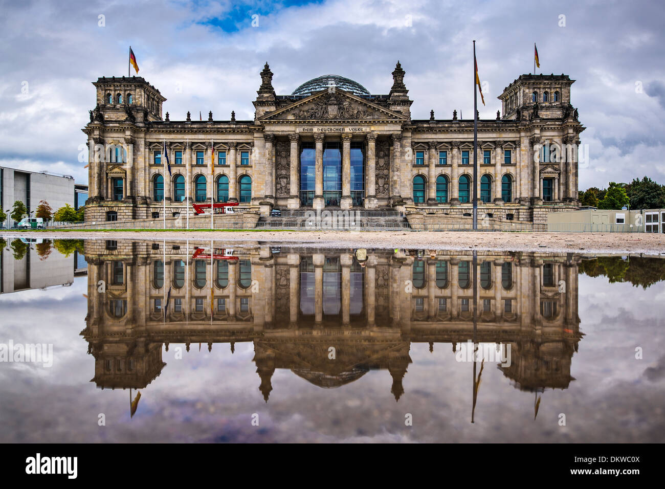 German Parliament Building Reichstag in Berlin, Germany. - Stock Image