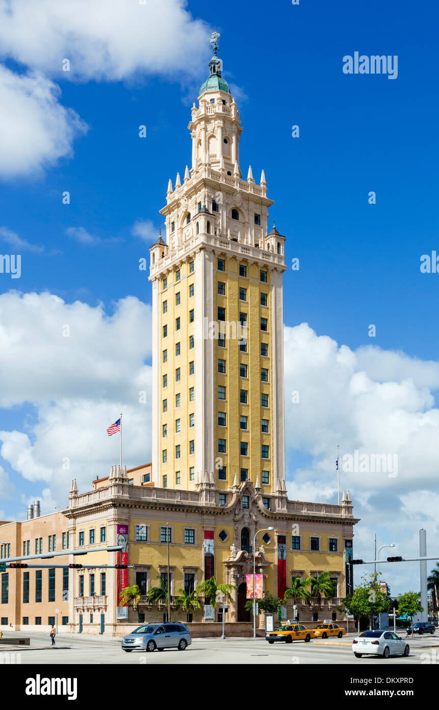 The Freedom Tower on Biscayne Boulevard in downtown Miami, Florida, USA - Stock Image