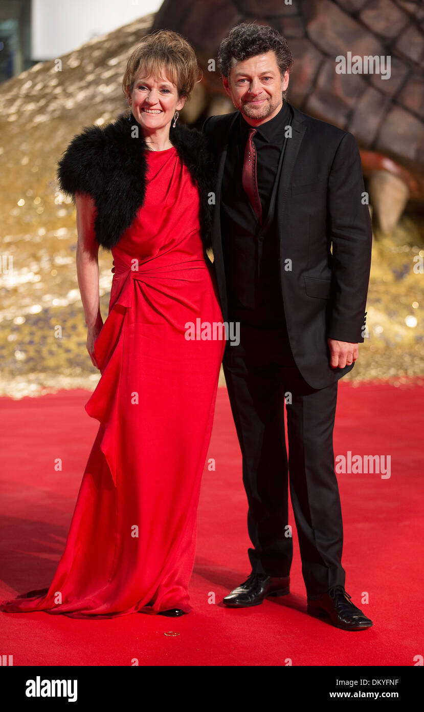 Berlin, Germany. 09th Dec, 2013. British actor Andy Serkis and his wife Lorraine arrive for the European premiere - Stock Image