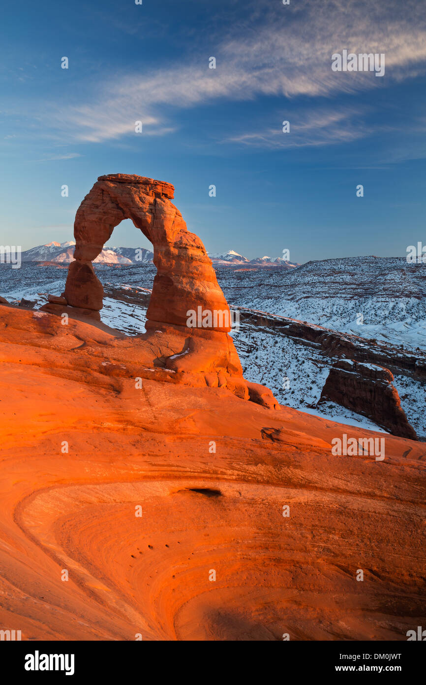 Delicate Arch, Arches National Park, Utah, USA - Stock Image