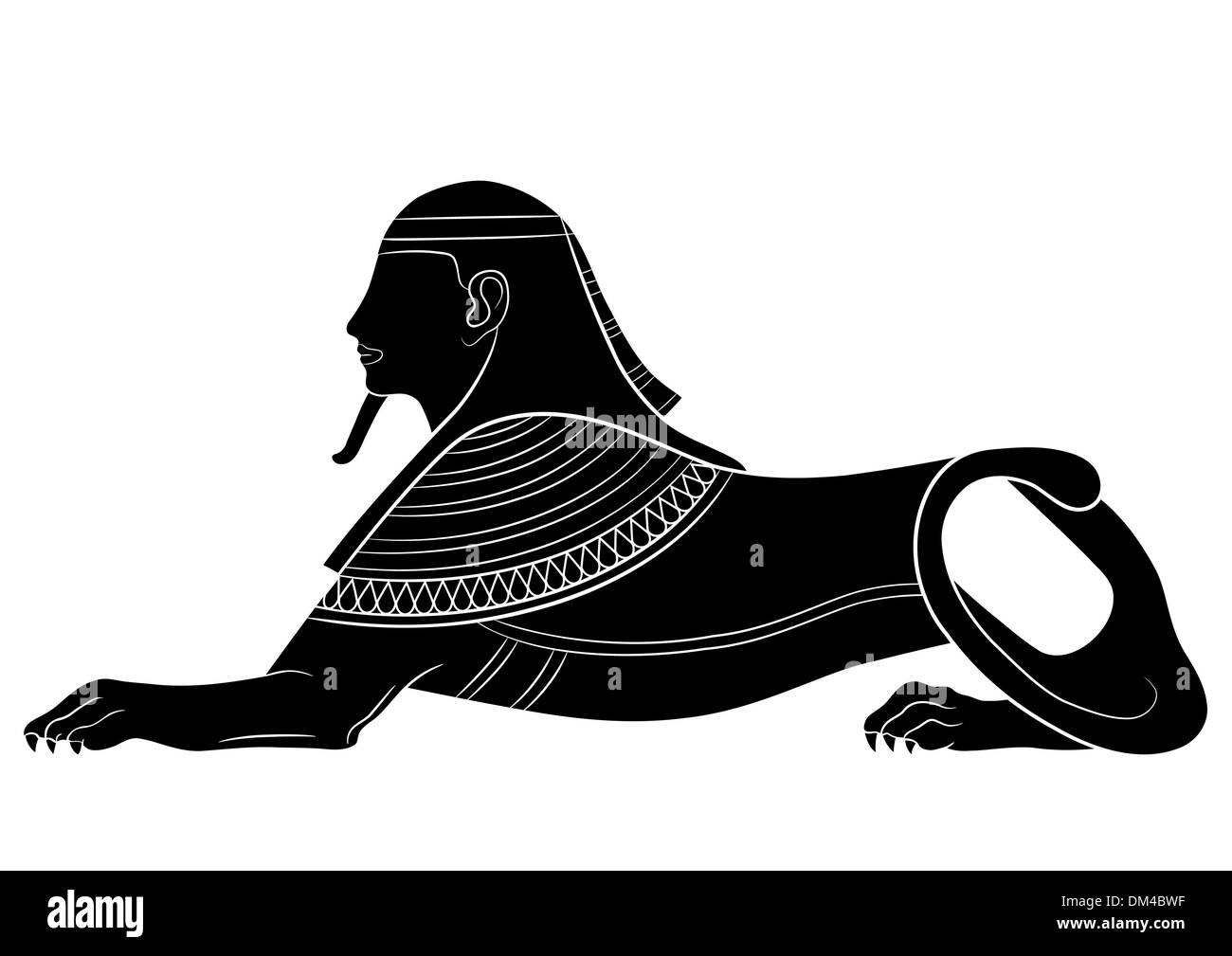 Sphinx - mythical creatures of ancient Egypt - Stock Image