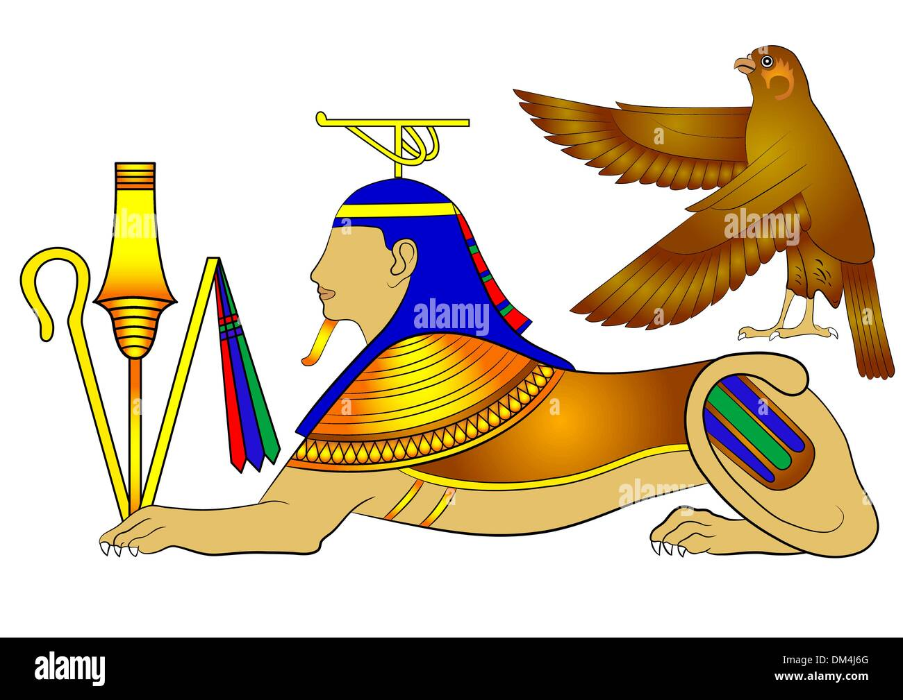 Sphinx - mythical creature of ancient Egypt - Stock Image