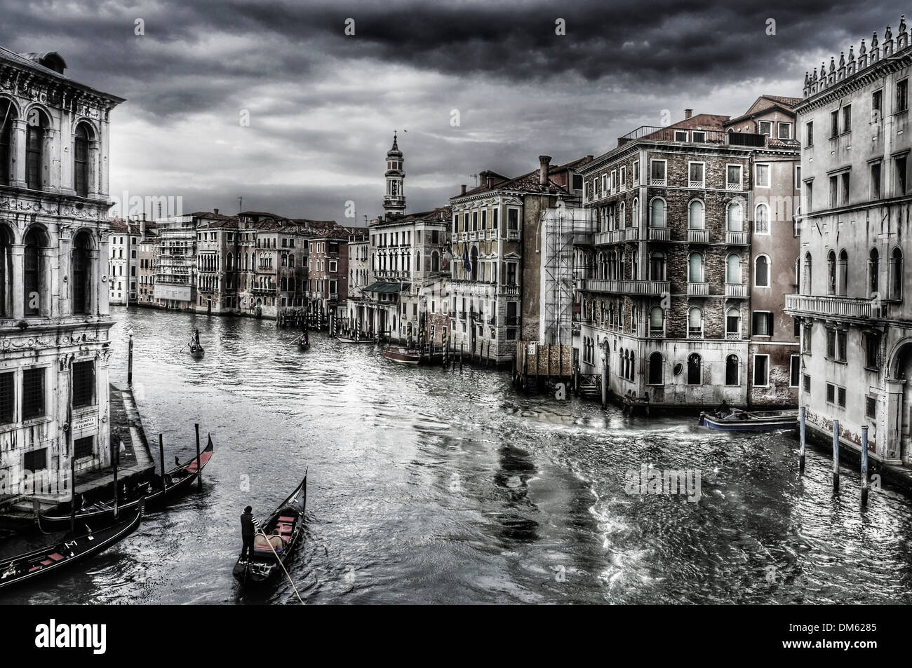 a view of the Grand Canal in Venice, Italy - Stock Image