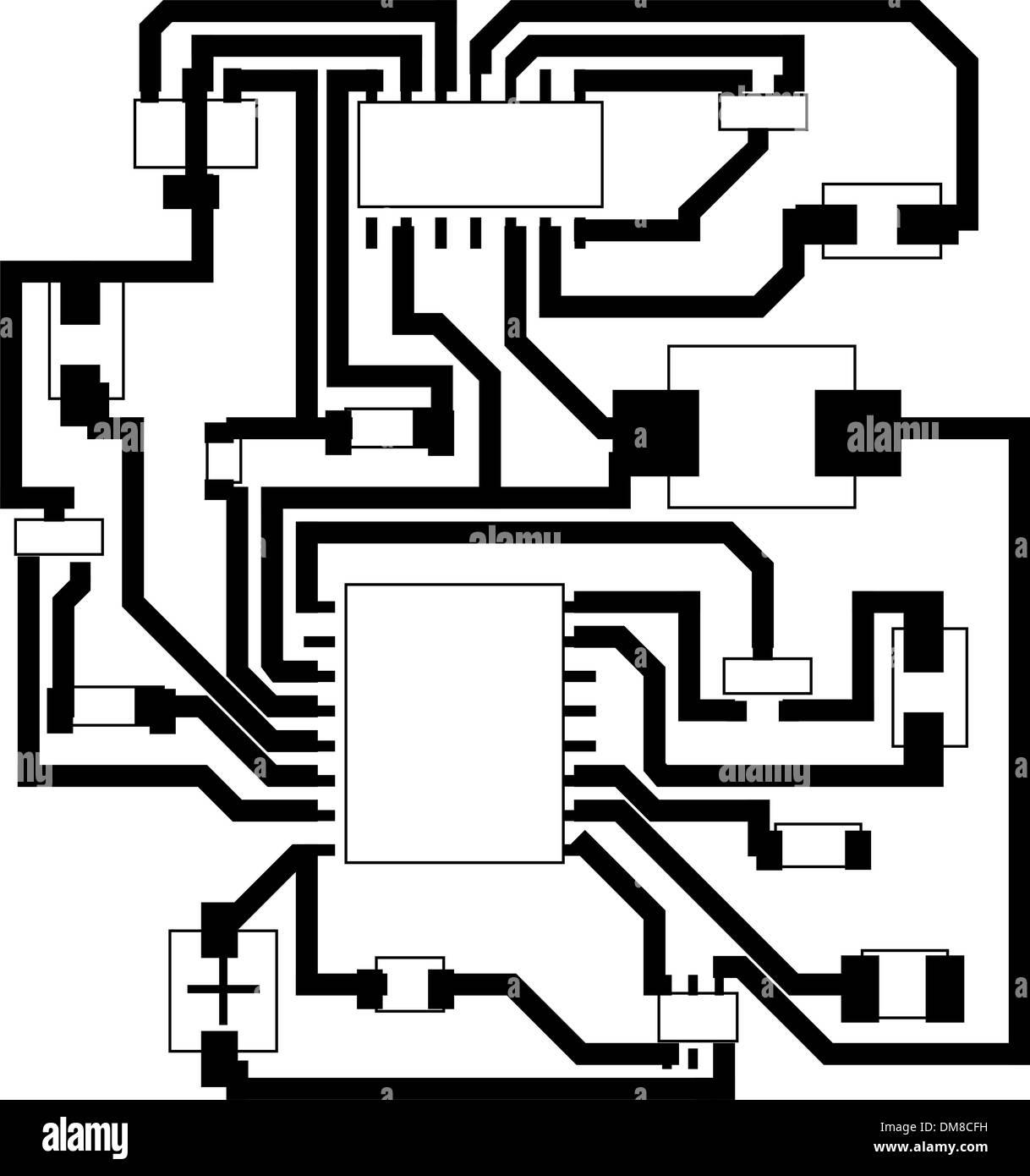 electrical scheme Stock Vector Art & Illustration, Vector Image ...