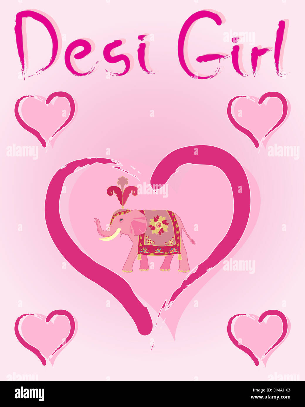 An Illustration Of Greeting Card Design With Love Hearts An Indian
