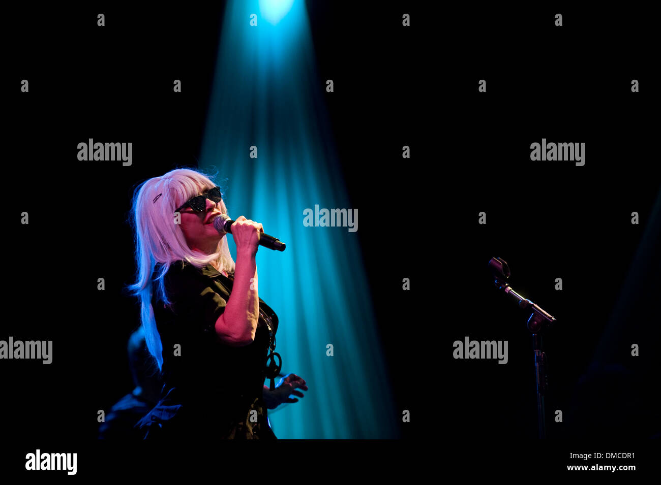 Deborah Harry from the band Blondie performs - Stock Image