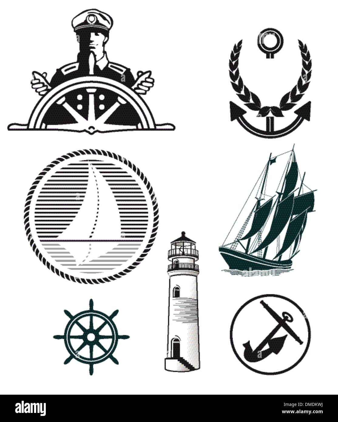 maritime mark - Stock Image