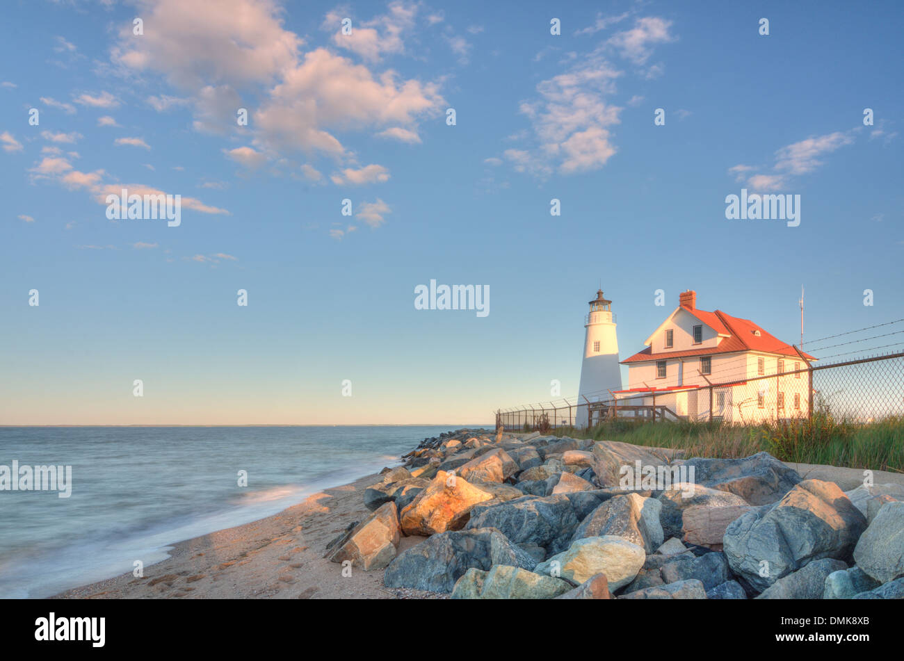 Cove Point Lighthouse in Maryland Stock Photo