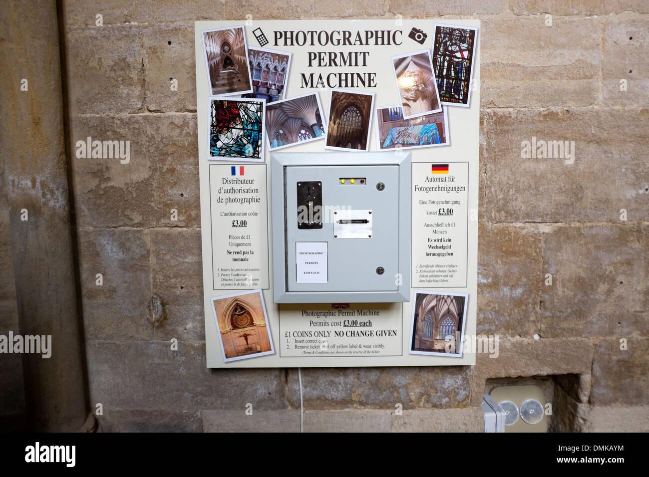 Photographic Permit Machine Permission to Photograph Stock Photo