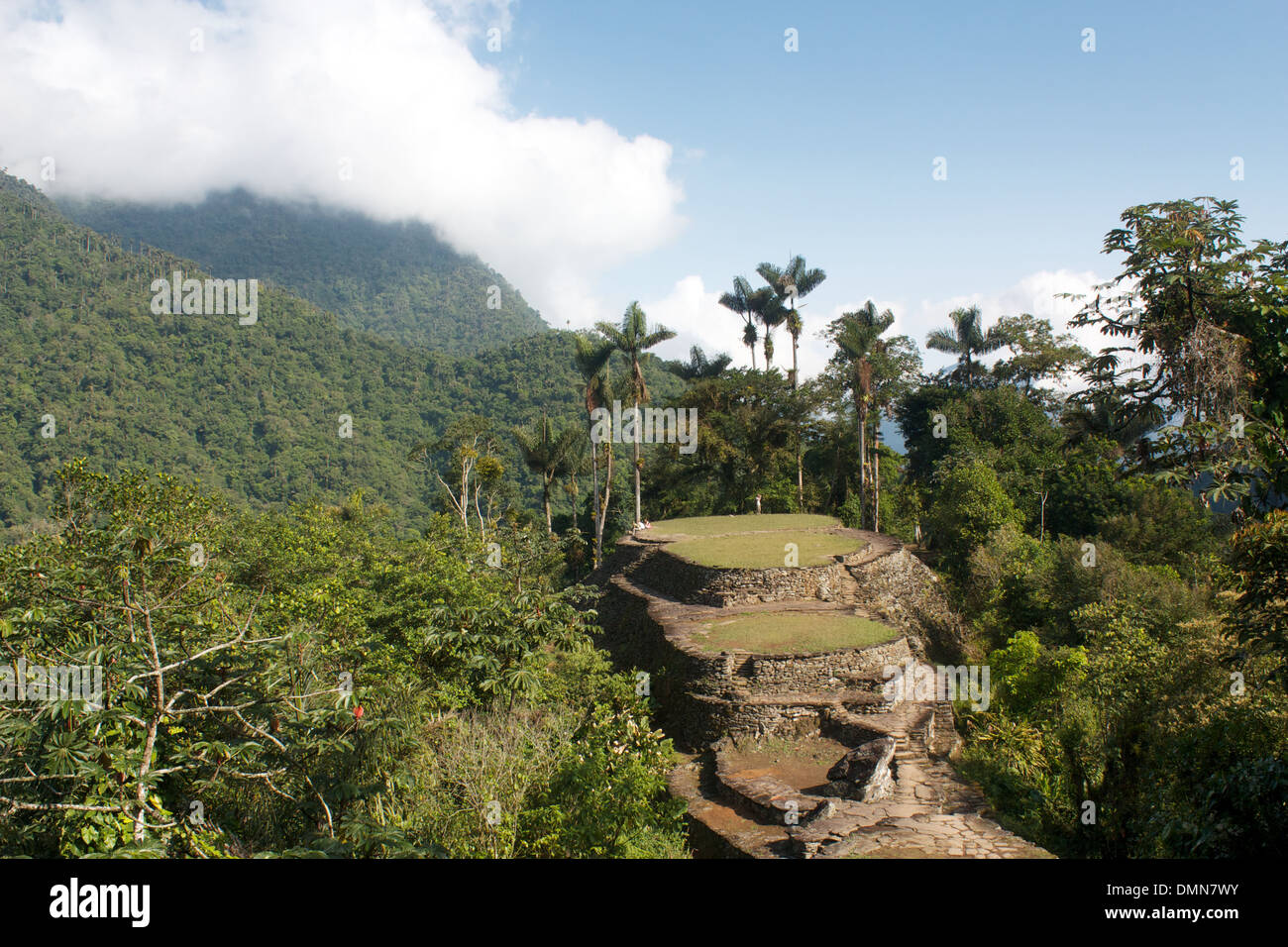 "View from the top of the terraces of the ""Lost City"" Stock Photo"
