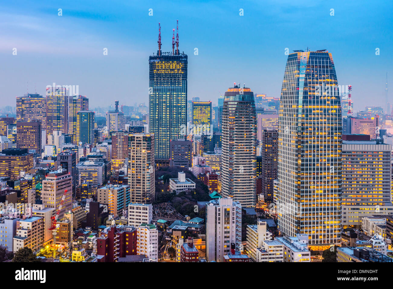 Tokyo, Japan cityscape and office buildings in Minato Ward. - Stock Image