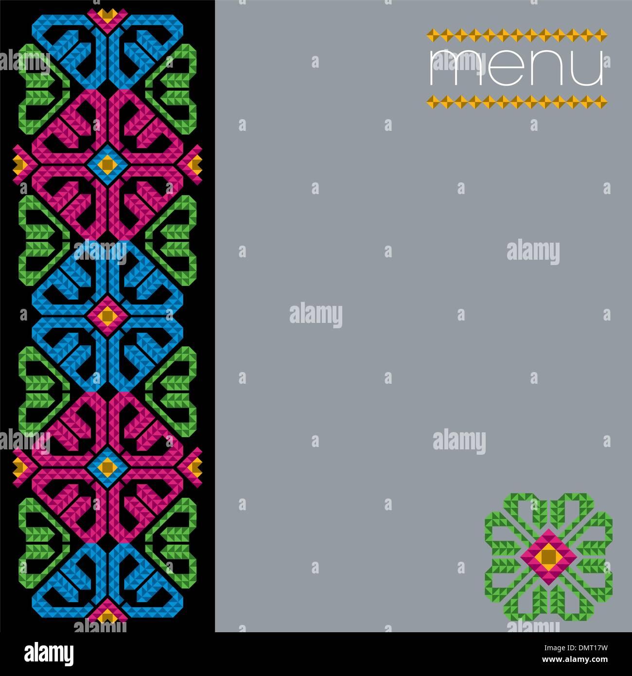 mexican restaurant menu cover design stock vector art illustration