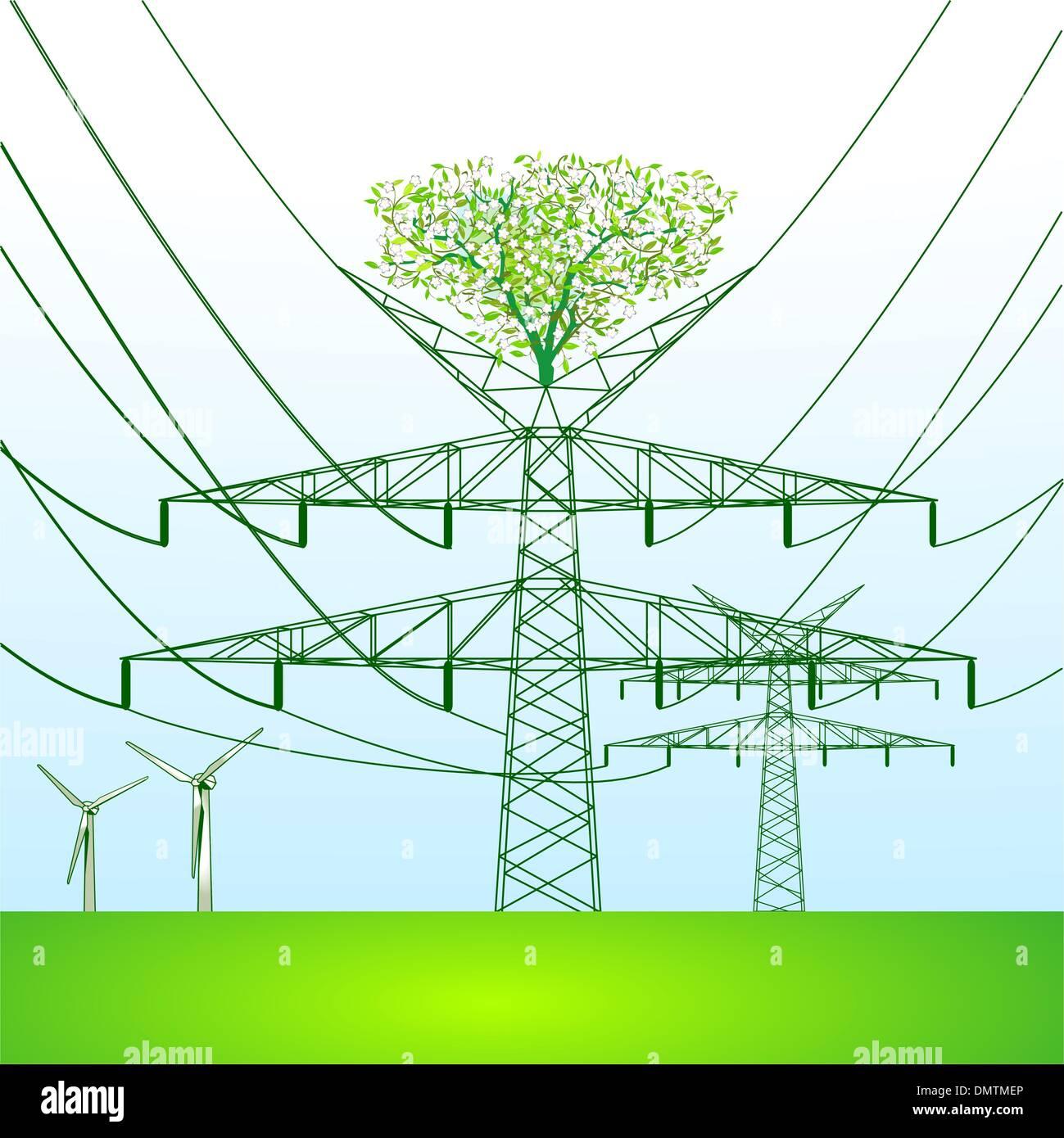 Vector Electrical Pole Diagram - DIY Enthusiasts Wiring Diagrams •