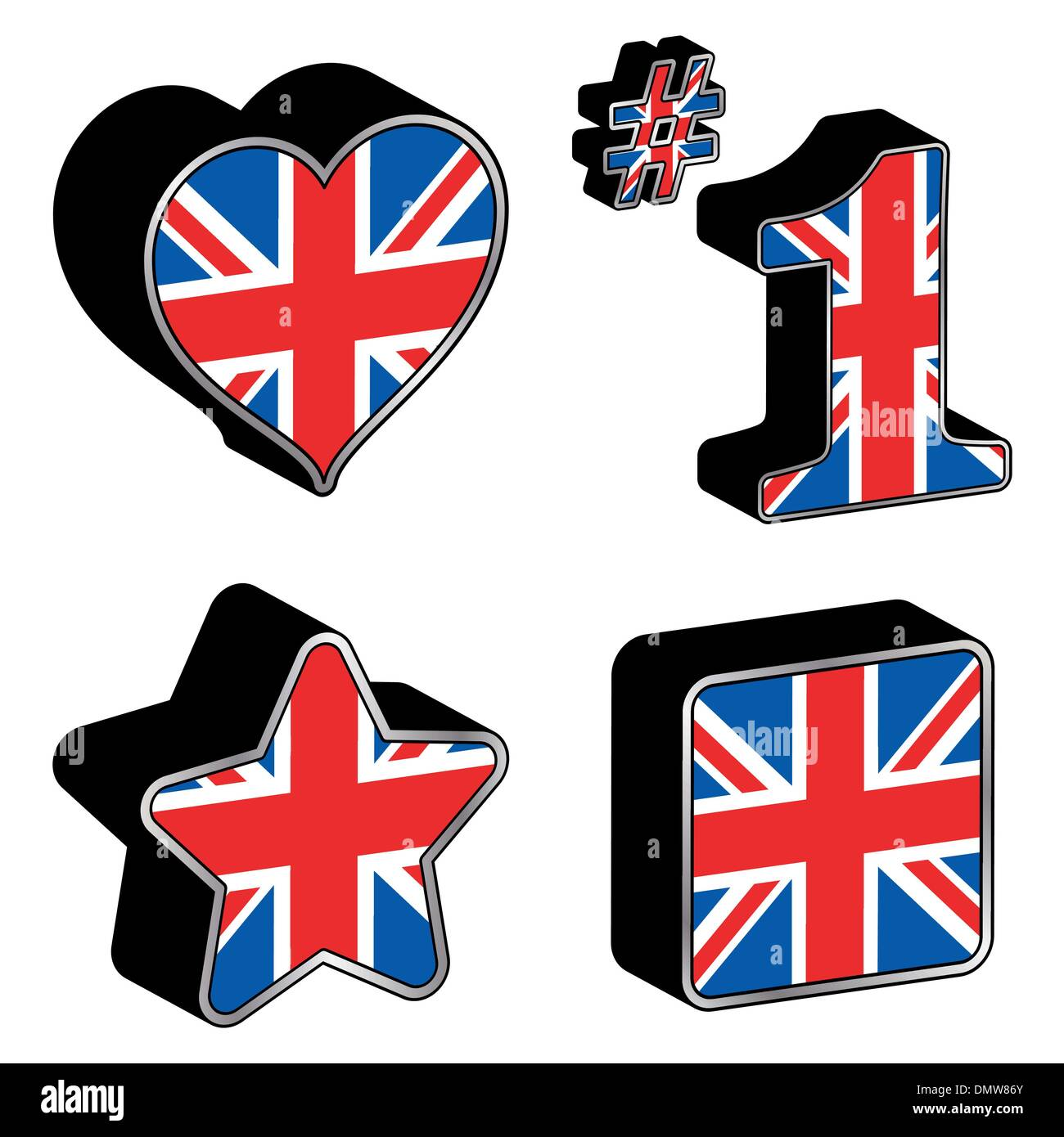 great britain icons stock vector art illustration vector image
