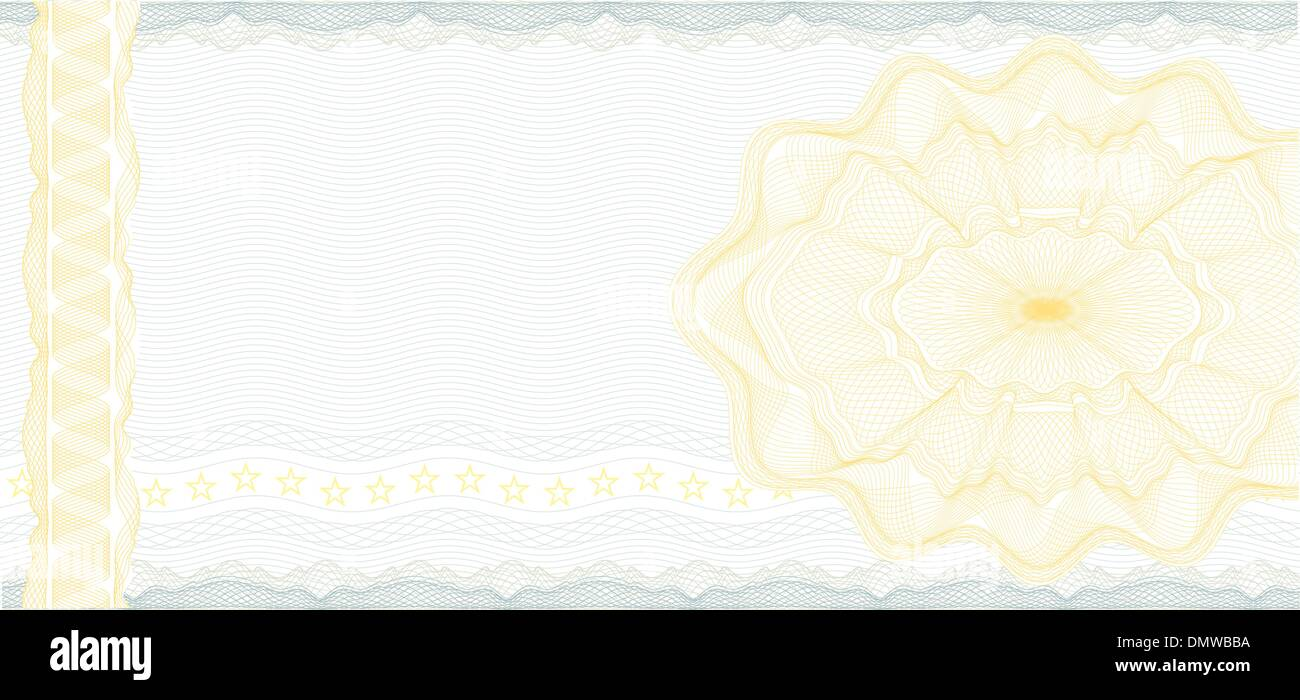 Golden Gift Certificate or Discount Coupon template Stock Vector Art ...