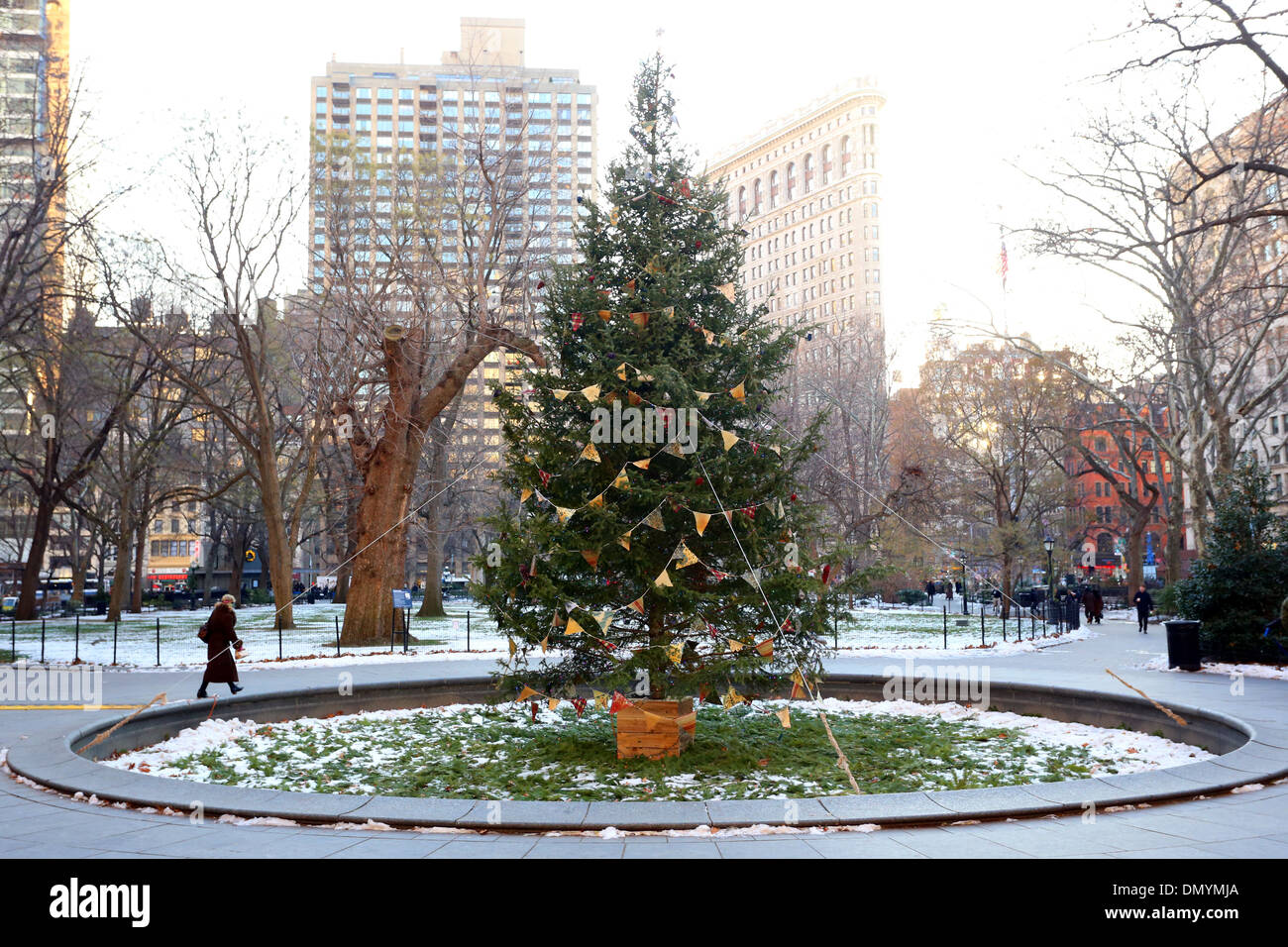 A Christmas Tree In Madison Square Park, New York City