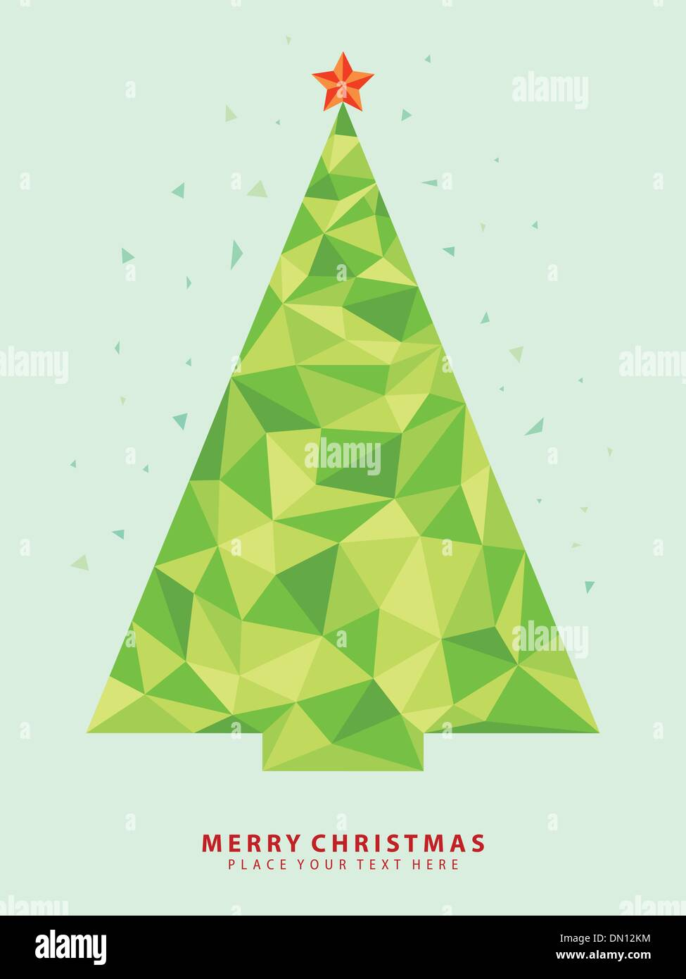 abstract christmas tree vector from crystal graphic stock vector art