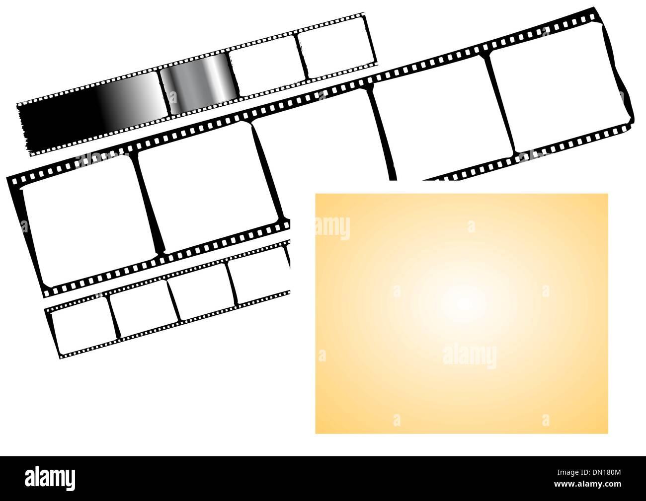 film strip and frame - vector Stock Vector Art & Illustration ...