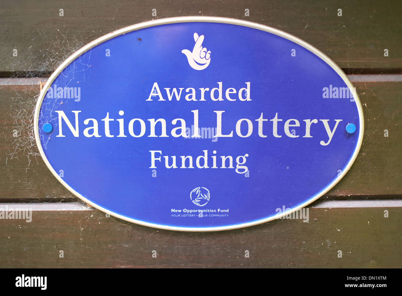 National Lottery funding sign - Stock Image