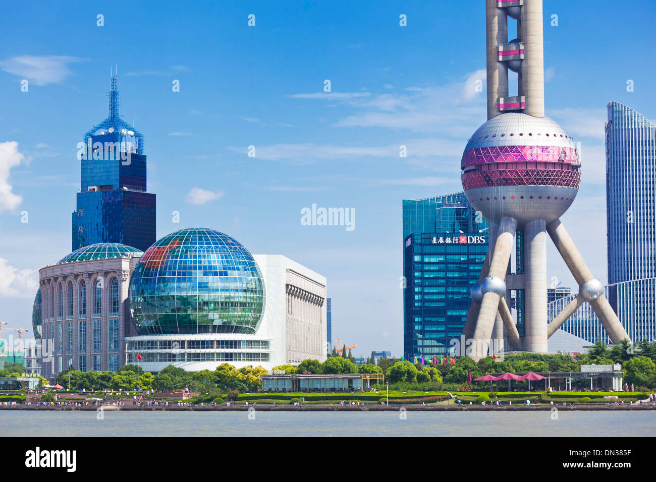 Shanghai Skyline, with Oriental Pearl and International Convention Centre, PRC, People's Republic of China, - Stock Image