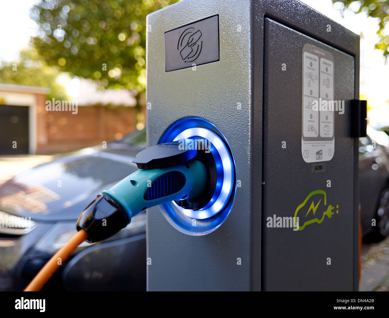 Electric car charge point - Stock Image