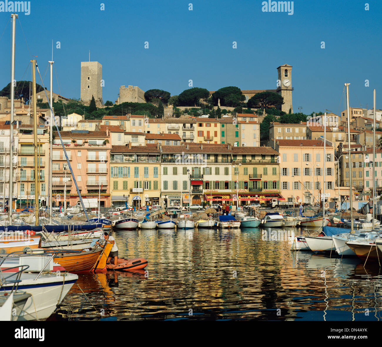 View of the Old Harbour, Cannes, Alpes-Maritimes, France - Stock Image