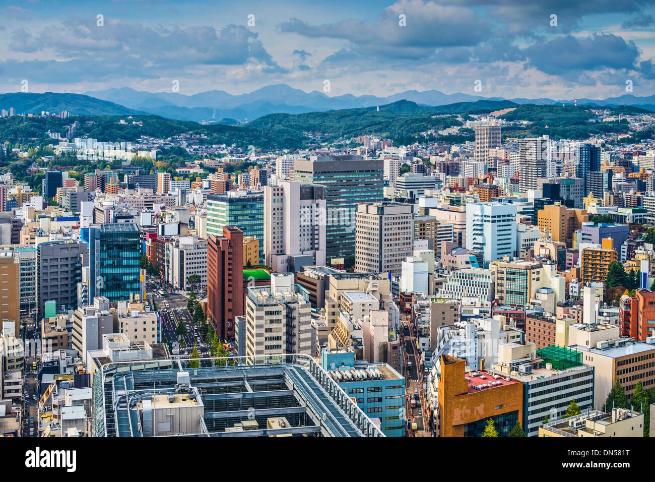 Sendai, Japan cityscape - Stock Image