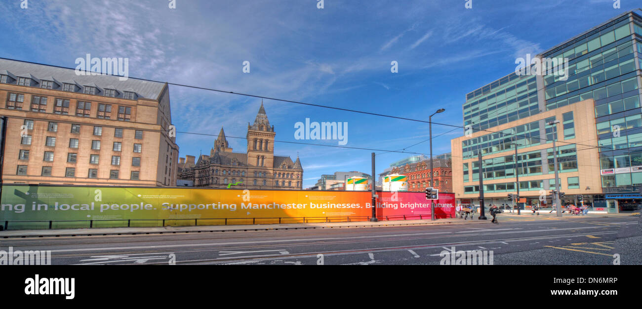 tram,corridor,England,UK,transport,mass,transit,town,hall,townhall,buildings,Moseley,St,street,central,city,centre,network,central,hub,during,building,work,works,improvements,2013,improvement,Gotonysmith,Buy Pictures of,Buy Images Of