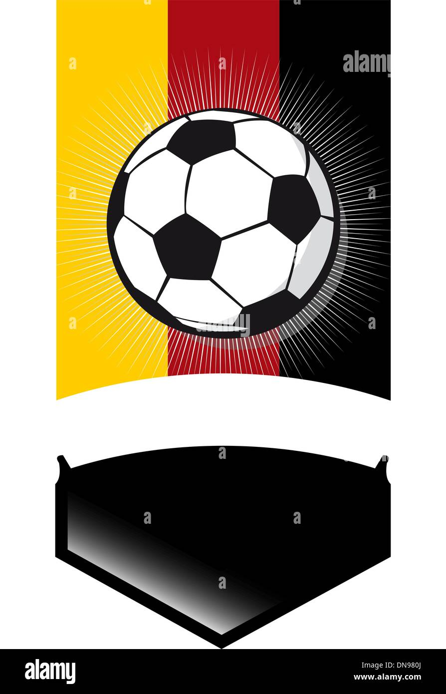 Germany Soccer Championship Banner Stock Vector Art Illustration