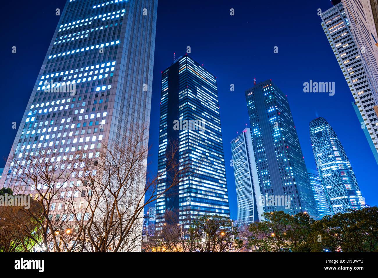 Shinjuku, Tokyo, Japan cityscape at night. - Stock Image