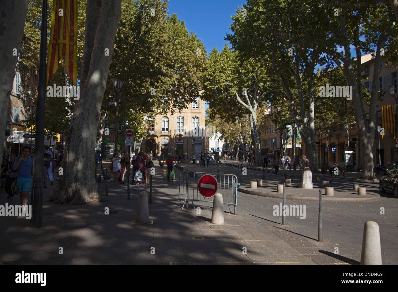 The Cours Mirabeau at Aix-en Provence - Stock Image