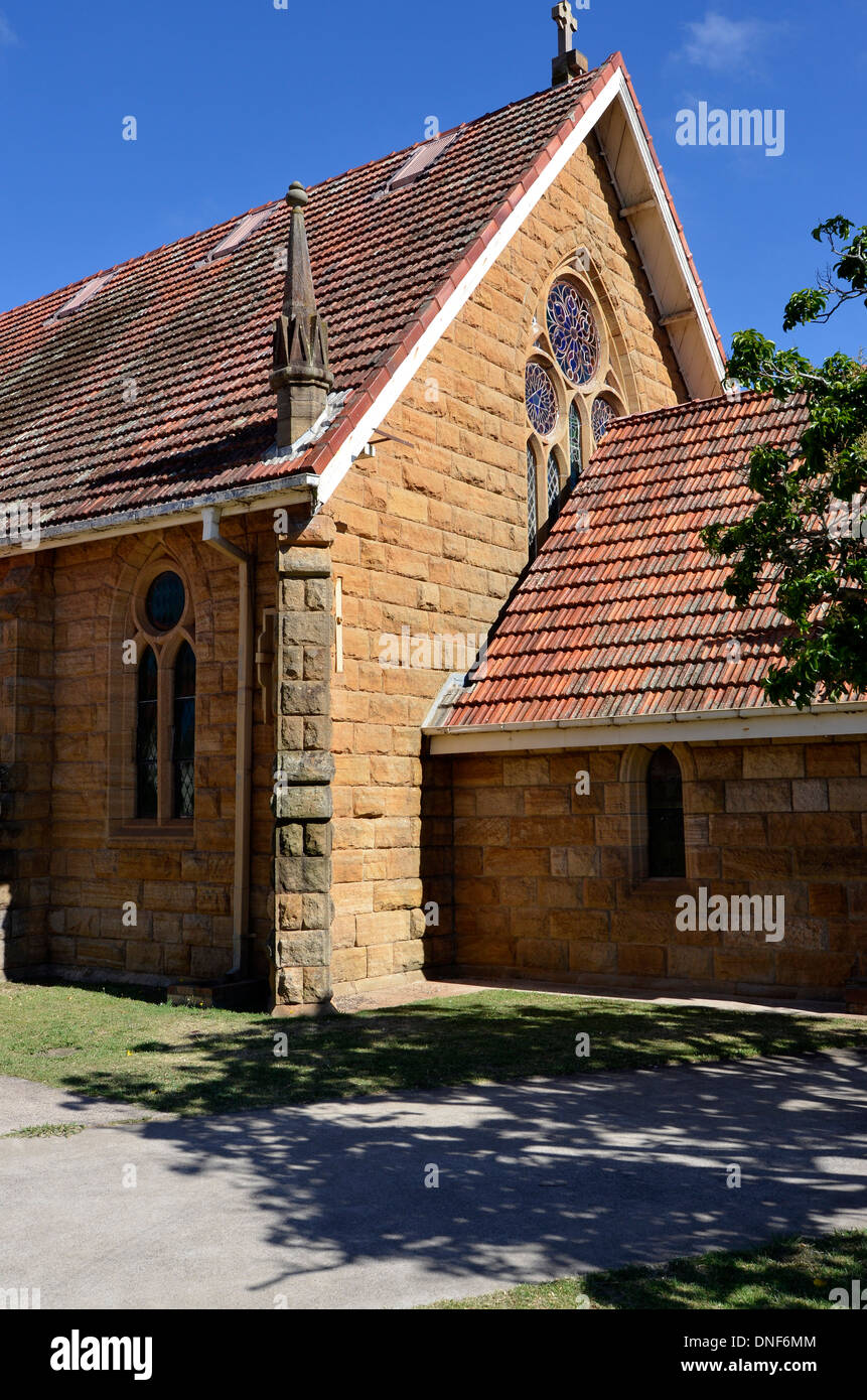Uniting (formerly St Andrew's Presbyterian) Church warwick, queensland, australia - Stock Image