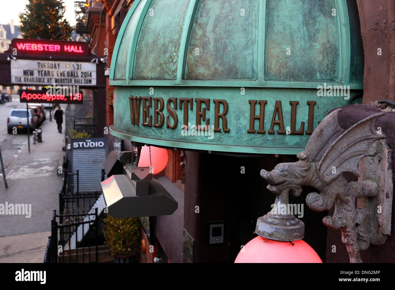 Webster Hall night club in NYC. Stock Photo