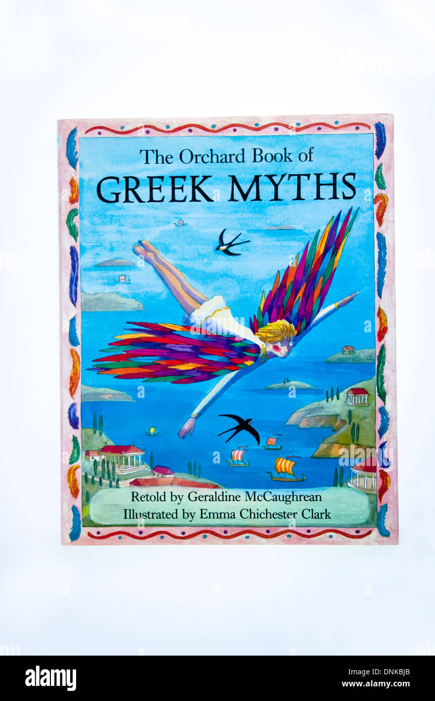 Greek Myths by Geraldine McCaughrean, illustrated by Emma Chichester Clark, stories for children published by Orchard - Stock Image