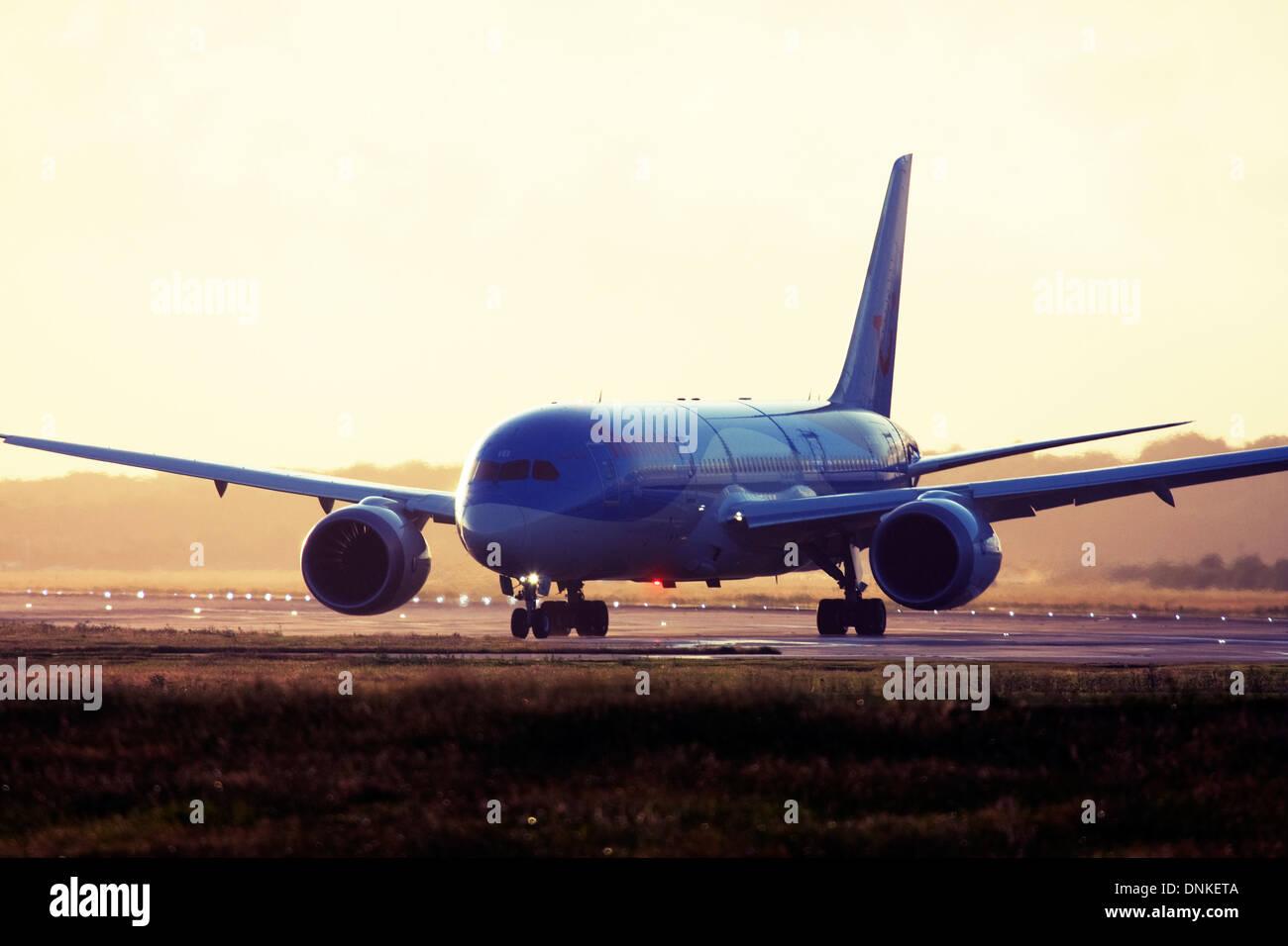 Thomson Airways Boeing 787-8 Dreamliner at London Gatwick Airport, England, UK. Stock Photo