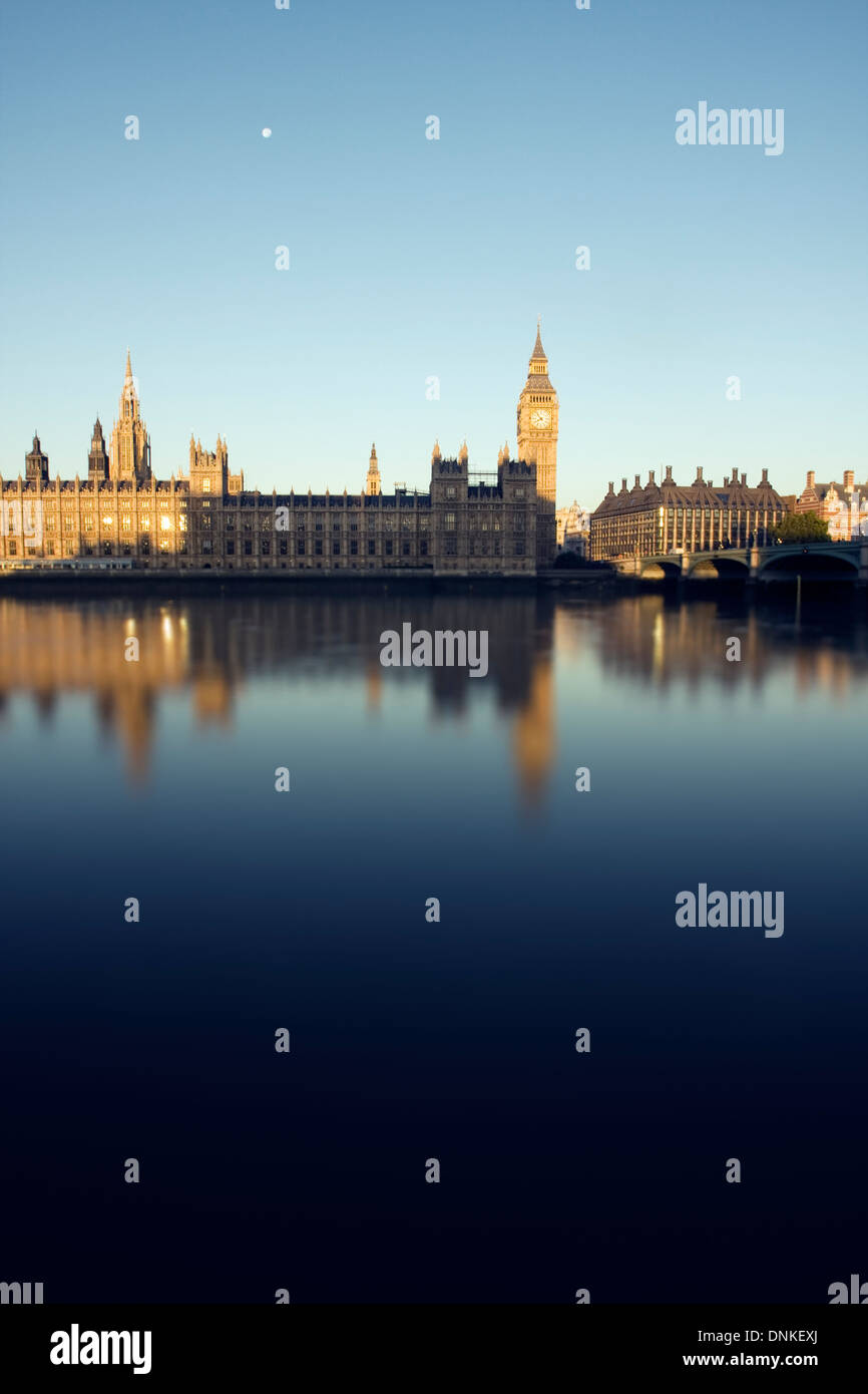 Big Ben and the House of Parliament on an early morning in London, England, United Kingdom. - Stock Image